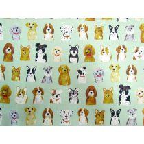 Portrait Puppies Linen Cotton