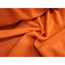 Waffle Knit Jersey- Blood Orange #937