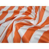 Yacht Stripe Spandex- Sundown Orange