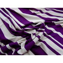 Prep Stripe Jersey- Purple/Sand