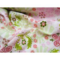 Garden Girl Floral Cotton- Pink