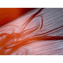 Ombre Fire Pleated Mesh