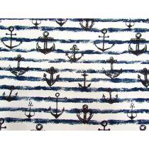 Anchor Canvas- Navy