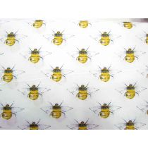 Blossom Bees Cotton- White
