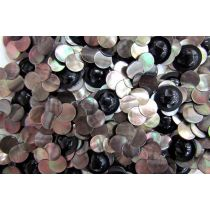 Black- Opal Finish Flower Couture Buttons- CB222