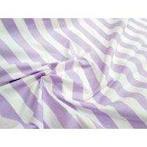 Striped Cotton Poplin- Lilac