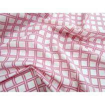 Lattice Cotton Poplin- Pink