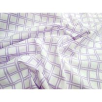 Lattice Cotton Poplin- Lilac