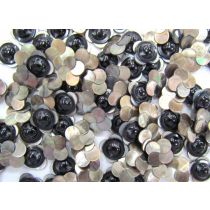 Small Black - Opal Finish Flower Couture Buttons- CB239