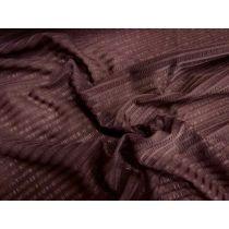 Sheer Seersucker Knit- Cocoa Powder