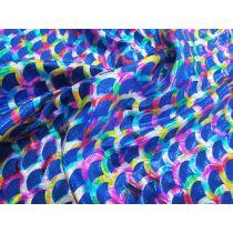 Rainbow Mermaid Foile Spandex- Royal