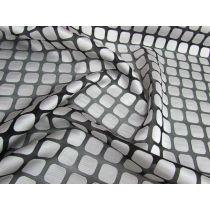Square Spaces Super Fine Chiffon- Silver/Black
