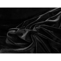 Plush Stretch Velvet- Baddie Black *Imperfections