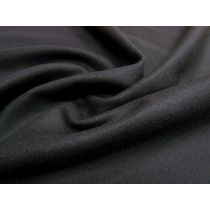 Wool Flannel Coating- Black