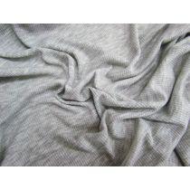 Light Soft Drape Mini Rib Jersey- Grey