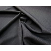 Wool Blend Fine Pinstripe Suiting- Dark Ink
