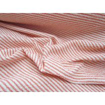 Chunky Weave Soft Stretch Suiting- Fanta Stripe