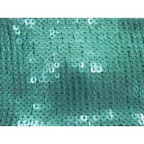 9cm Wide Glomesh Sequin Trim- Aquamarine