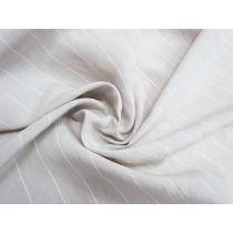 Heather Stripe Linen Blend Shirting