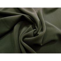 Bonded Stretch Crepe- Khaki Olive #1008
