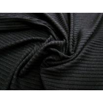 Chunky Rib Knit- Black #1027