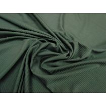 Slinky Ribbed Jersey- Deep Olive #1036