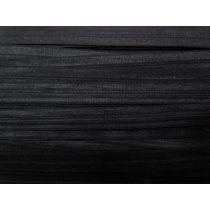 17mm Shiny Fold Over Elastic- Black #005