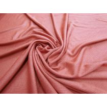 Soft Drape Mini Rib Jersey- Pink Clay #1062