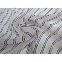 Floating Stripe Silk Chiffon Yoryu