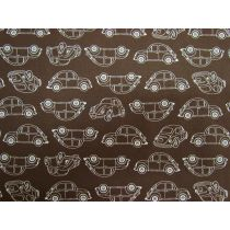 Retro Beetle Cotton- Brown