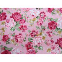 Prairie Rose On Pink Cotton