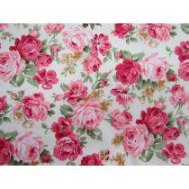 Prairie Roses on Cream Cotton