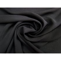 Lightweight Viscose Crepe- Black #1107