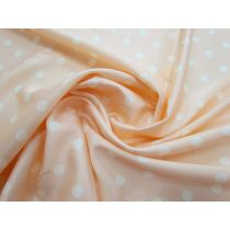 Peaches and Cream Satin Back Crepe