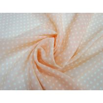 Peachy Keen Spotted Chiffon