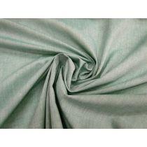 Shot Cotton Blend Shirting- Mint Leaf