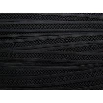 15mm Mesh Look Lattice Elastic- Black #111