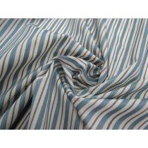 Seaside Stripe Embroidered Cotton