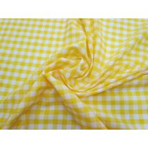 8mm Gingham Cotton Blend- Yellow