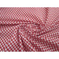 4mm Gingham Cotton Blend- Red