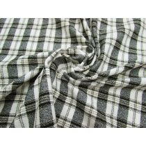 Stretch Plaid Crepe