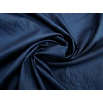 Delustered Cotton Sateen- Navy #1136