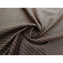 Double Stitched Lines Linen Cotton- Mocha #1156