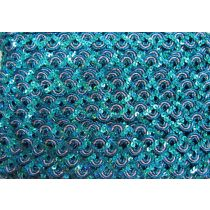 16mm Carnival Sequin Braid Trim- Aqua