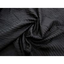 Self Stripe Silk Cotton- Hush Black #1243