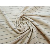 Textured Coffee Stripe Cotton Suiting #1327