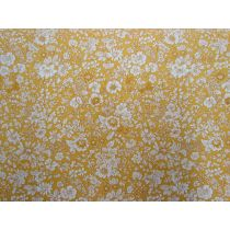 Liberty Cotton- Emily Silhouette Yellow- English Garden Collection