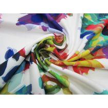 Paper Floral Lightweight Scuba Knit #1403