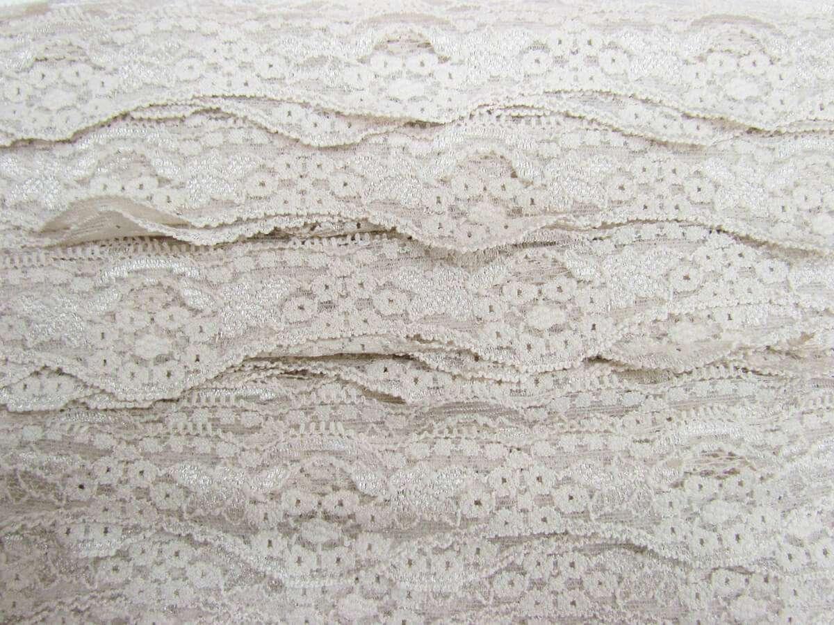 40mm Black Foral net Lace  Ribbon