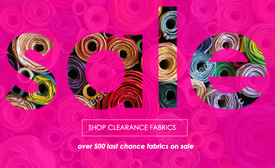 Clearance Fabrics Online